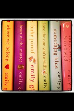 LOVE Emily Giffin's books!