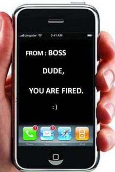 You are fired - text