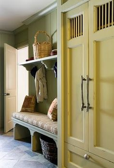 Willow Decor: Lessons from a Grand Home.  Mudroom drop off.
