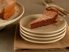Try this recipe for flourless chocolate cake from Martha Stewart's Everyday Food with eggs, butter, chocolate, & sugar. Get this cake recipe from PBS Food.