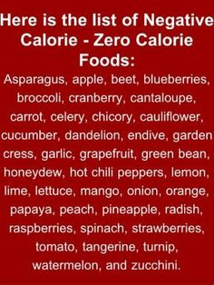 Zero Calorie Foods by Ms.B
