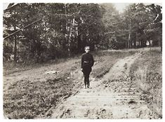 The executioner Ermakov at the site of the Romanov burial in Pig's Meadow: 1920. This photograph was used to help researchers find the remains of the Imperial family.