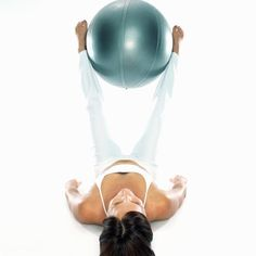 A stability ball can be used to firm and tone your inner thighs.