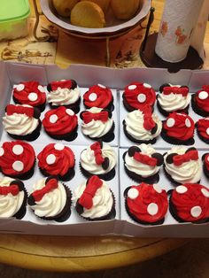 Minimouse cupcakes made by mee :)