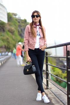 Teen Fashion Outfits, Trendy Outfits, Girl Outfits, Pijamas Women, Pink Denim Jacket, Aesthetic Fashion, Casual Fall, Spring Outfits, Marilyn's Closet