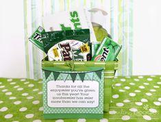 Mint Gift Basket Idea from Darling Doodles
