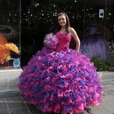 rainbow quinceanera dresses | QUINCEAÑERAS EN LA LAGUNILLA
