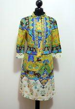JOLIE FONTAINE ROMA VINTAGE '70 Abito Vestito Donna Cotton Woman Dress Sz.S