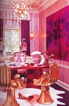 Kelly Wearstler, Home Theaters, Interior Inspiration, Design Inspiration, Writing Inspiration, Interior Ideas, Hand Chair, Desk Chair, California Decor