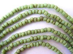 green glass beads~<3