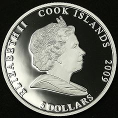 Cook Island 5 Dollars International Year of Astronomy Jupiter Silver Coin 2009