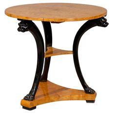 Biedermeier furniture of the 19th century -  Table i Birchwood With Ebonized legs