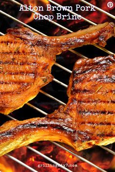 Who doesn't love Alton Brown? Well, Alton Brown's Pork Chop Brine is right on. So flavorful and keeps those pork chops juicy.#porkchoprecipe #Porkbrine #Altonbrown Pork Chop Recipes, Grilling Recipes, Grilled Pork Chops, Grilled Chicken, Alton Brown, Chops Recipe, Food Dishes, Main Dishes, Food Print