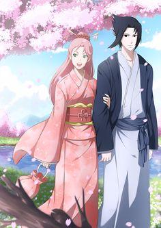 Sakura x Sasuke by Ria02716.deviantart.com on @DeviantArt