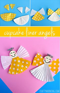 These little angels made from cupcake liners are so sweet. A simple Christmas craft for kids that you likely already have all the supplies for. decorations thanksgiving simple Cupcake Liner Angel Craft for Kids - Crafty Morning Thanksgiving Crafts For Toddlers, Preschool Christmas, Crafts For Kids To Make, Christmas Activities, Christmas Crafts For Kids, Simple Christmas, Craft Kids, Thanksgiving Games, Christmas Holidays