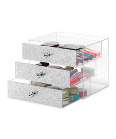 Another great find on #zulily! Three-Tier Shimmering Acrylic Cosmetic Organizer #zulilyfinds