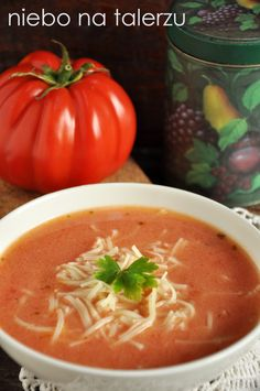 Best Soup Recipes, Gf Recipes, Cooking Recipes, Vegan Gains, Food Decoration, Polish Recipes, Foods With Gluten, I Love Food, Soups And Stews