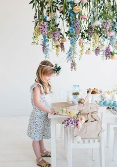 A fresh floral installation for easter
