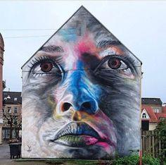 New Street Art by David Walker   Aalborg, Denmark