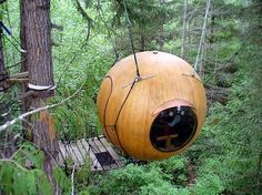 i want my kids to have a tree house! they're cute!