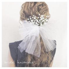 Makeup Trends 2017, Korean Wedding Photography, Hair Setting, Bow Hair Clips, Hair Ornaments, Bridal Hair Accessories, Bride Hairstyles, Hair Makeup, Hair Beauty