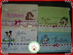 Toalhas de mão infantis  pintadas. Minha paixão!!!! www.facebook.com/lexavierarts