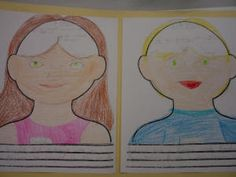 mind portraits comparing the thoughts of two characters...great way to encourage critical thinking!