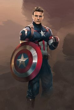 Captain America in Age of Ultron von - Avengers - Marvel Captain Marvel, Captain America Civil War, Marvel Avengers, Avengers Poster, Marvel Memes, Captain America Images, Captain America Drawing, Captain America Costume, Capitan America Marvel