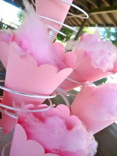 Cotton candy cones. Yum!