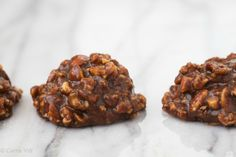 These no bake cookies only take a few minutes to prepare and then you just pop them in the fridge until they're chilled.