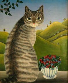 Big grey cat - Elsa Moosbrugger Jacob.