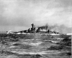 "HMS HOOD on speed trials off the Isle of Arran. ""The Mighty Hood"" - HMS Hood"