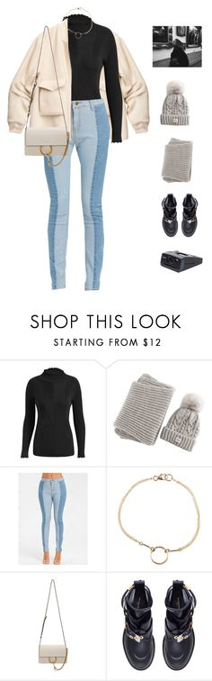 """Steps."" by greciapaola ❤ liked on Polyvore featuring H&M, Dogeared, Chloé, Balenciaga and Polaroid"