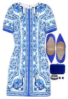"""""""Sin título #673"""" by itzel3297 ❤ liked on Polyvore featuring Dolce&Gabbana, Manolo Blahnik and CARAT*"""