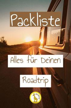 Ob langes Wochenende oder Langzeitreise, wir haben eine umfangreiche Packliste zusammengestellt. Alles was man für den nächsten Roadtrip im Campervan braucht, um für alle Abenteuer, Wetter und Notfälle gerüstet zu sein. Camper, Van Life, Tricks, Road Trip, Cinema, Tours, Landscapes, Travel, Paisajes