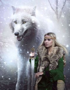 Valkyrie and Wolf
