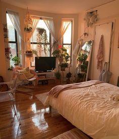 Modern Bohemian Bedroom Decor Ideas , - Home Professional Decoration College Bedroom Decor, Room Ideas Bedroom, Bedroom Apartment, Home Bedroom, Cozy Apartment, Bedroom Colors, Master Bedroom, Bed Room, Bedroom Modern