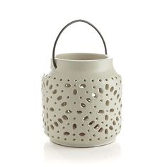 Wisteria Ivory Lantern    Crate and Barrel