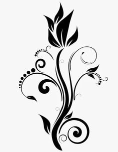 Diseños JA: Vinil Para Decoracion Interior Y Exterior Rose Drawing Tattoo, Butterfly Drawing, Page Borders Design, Border Design, Painting Patterns, Fabric Painting, Stencil Designs, Designs To Draw, Flower Designs