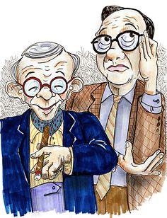 George Burns and Jack Benny
