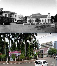 Hotel Cavadino Met Rechts Toko Op De Hoek Rijswijk Citadelweg Te Batavia Ca Jakarta