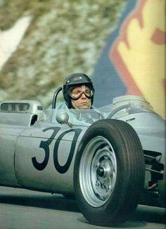 F1 Historic - Dan Gurney on Porsche 804 in the 1962 French GP.