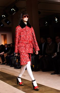 Marni Fall/ Winter 2012 via The Sartorialist | Love the pattern, weight of material and cut. Shoes are divine. I'd rock it and kill it.