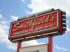 I miss it so much. Can't wait to get some at the end of the month. Y'all don't understand--Eastern North Carolina barbecue is serious business.  [BBQ REVIEWS: Smithfield's Chicken N Bar-B-Q Lumberton NC]