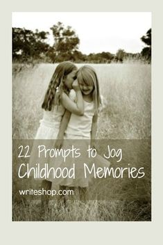 22 writing prompts that jog childhood memories- 22 writing prompts that jog childhood memories As vivid as the moment seems at the time, memories fade. These childhood memories prompts will help jog them! Memoir Writing, Writing Prompts, Writing Tips, Autobiography Writing, Nice Writing, Writing Strategies, Letter Writing, Writing Skills, Pen & Paper