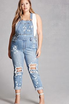 ec28d241ebe Forever 21. Denim OverallsOveralls OutfitBleach DyeSheer Lace DressForever  21 DressesPlus Size ...