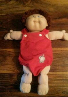 #Vintage #cabbage patch kid original doll 1980's signed  with #romper and hair,  View more on the LINK: 	http://www.zeppy.io/product/gb/2/222030143753/