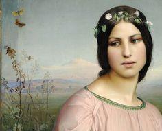 Louis Janmot, Fleur des champs (detail), 1845, Musee des Beaux-Arts de Lyon
