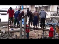 [Video] How Construction Works in Other Parts of the World - These men make construction work look so fun!