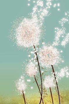 Sparkly dandelions.